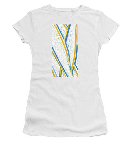 Women's T-Shirt (Junior Cut) featuring the digital art Rhapsody In Leaves No 3 by Ben and Raisa Gertsberg
