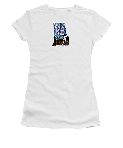 Women's T-Shirt featuring the painting Rhode Island, Hope by Monique Faella