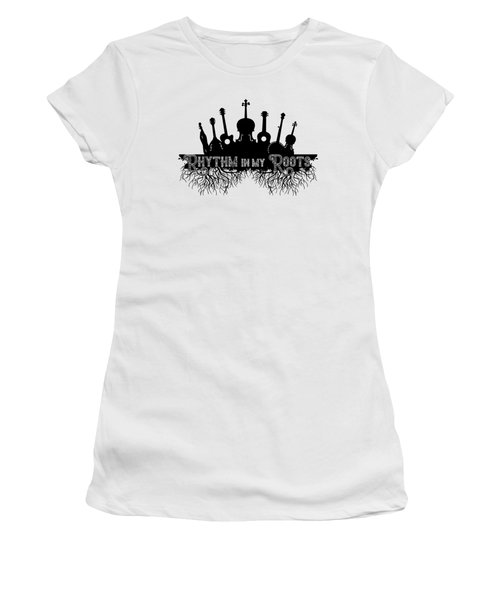 Rhythm In My Roots Women's T-Shirt (Athletic Fit)