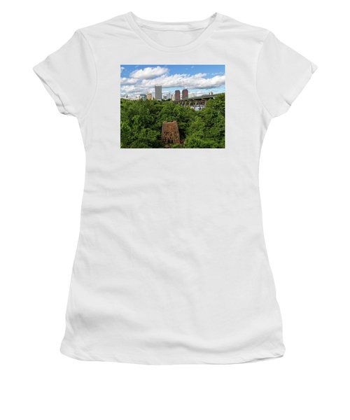 Women's T-Shirt (Athletic Fit) featuring the photograph Richmond View by Alan Raasch