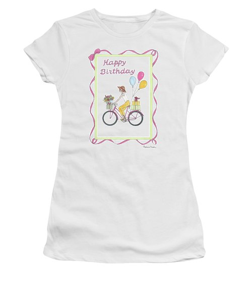 Ride In Style - Happy Birthday Women's T-Shirt (Athletic Fit)