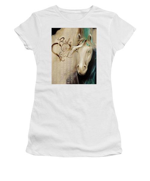 Ride Like A Girl 16x20 Women's T-Shirt (Athletic Fit)