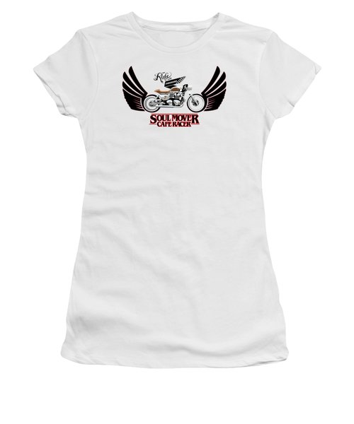 Ride With Passion Cafe Racer Women's T-Shirt (Athletic Fit)