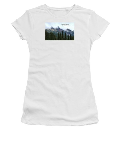 Women's T-Shirt (Junior Cut) featuring the photograph Rides On The Clouds by Lynn Hopwood