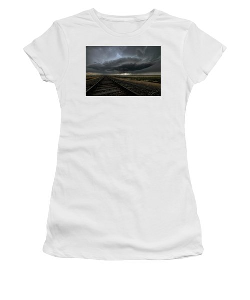 Right On Track Women's T-Shirt (Athletic Fit)