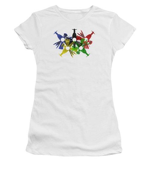 Rio De Janeiro Skyline In Various Colors Women's T-Shirt (Athletic Fit)