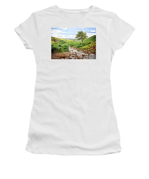River And Stream In Weardale Women's T-Shirt
