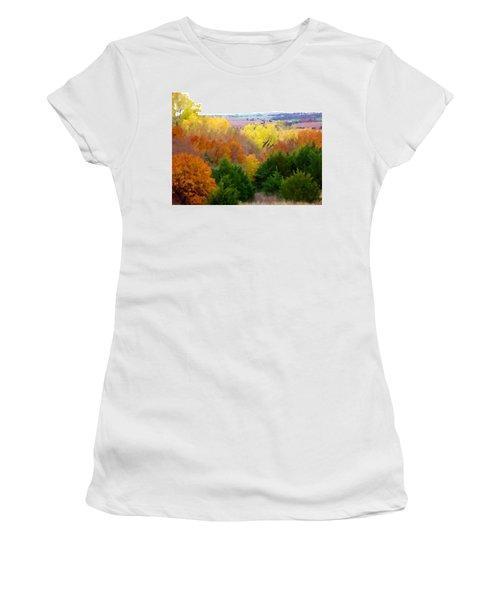 River Bottom In Autumn Women's T-Shirt