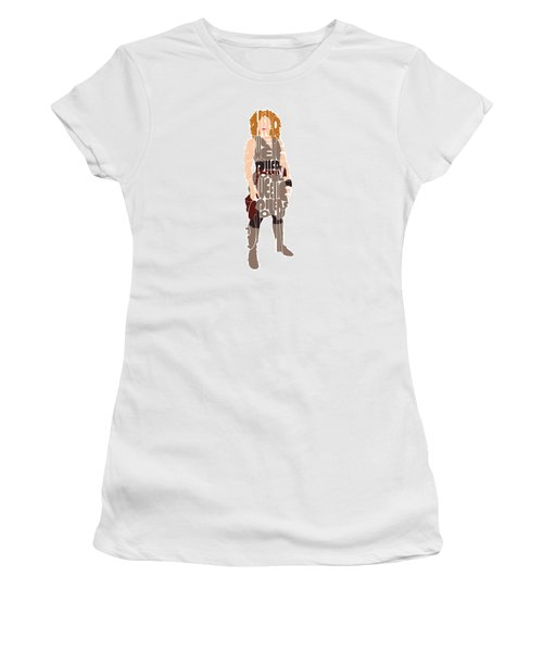 Women's T-Shirt (Junior Cut) featuring the digital art River Song by Jean Haynes