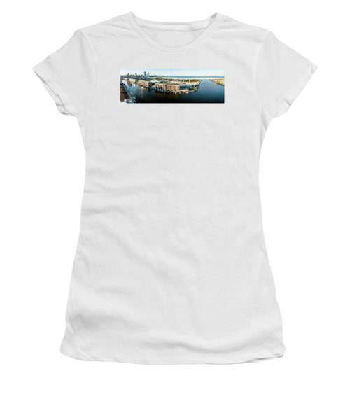 Women's T-Shirt (Athletic Fit) featuring the photograph Riverfront by Randy Scherkenbach