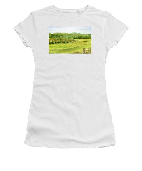Road Through Vermont Field Women's T-Shirt