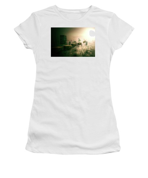 Women's T-Shirt (Junior Cut) featuring the digital art Road To Recovery  by Nathan Wright