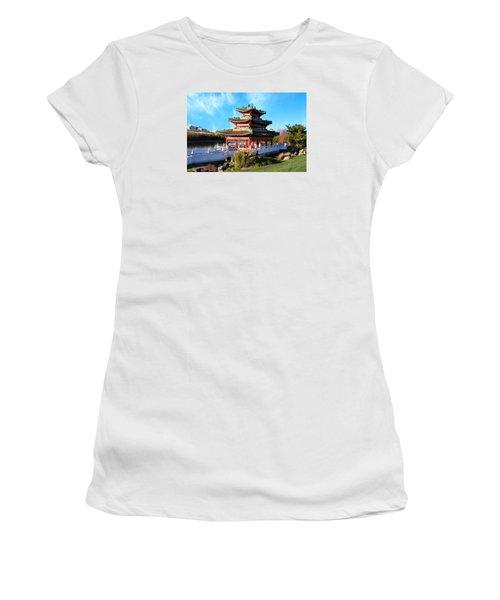 Robert D. Ray Asian Garden Women's T-Shirt (Junior Cut) by Kathy M Krause