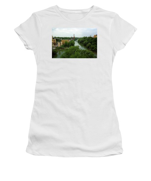 Rochester, Ny - Genesee River 2005 Women's T-Shirt (Junior Cut) by Frank Romeo