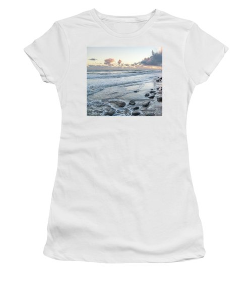 Rocks On The Beach During Sunset Women's T-Shirt