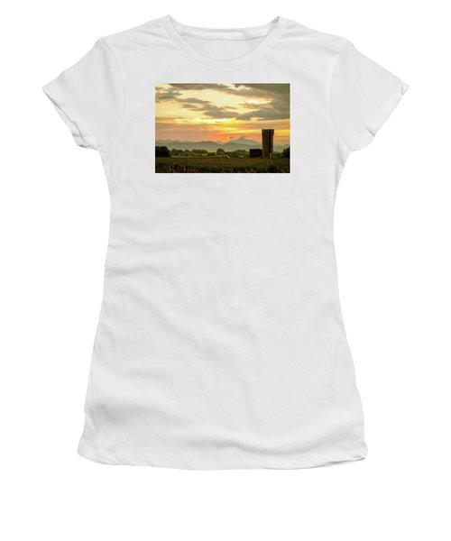 Women's T-Shirt (Athletic Fit) featuring the photograph Rocky Mountain Front Range Country Landscape by James BO Insogna