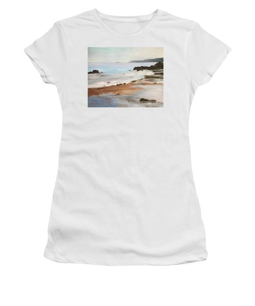Rocky Neck Beach At Sunset Women's T-Shirt (Athletic Fit)