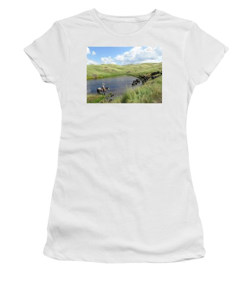 Rolling Hills Women's T-Shirt (Junior Cut) by Diane Bohna