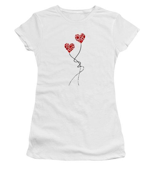Romantic Art - You Are The One - Sharon Cummings Women's T-Shirt (Junior Cut) by Sharon Cummings
