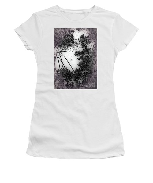 Women's T-Shirt (Athletic Fit) featuring the photograph Romantic Spider by Megan Dirsa-DuBois