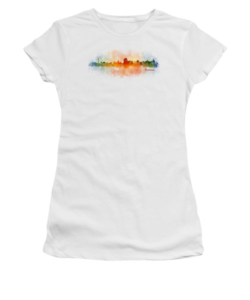 Rome City Skyline Hq V03 Women's T-Shirt (Athletic Fit)