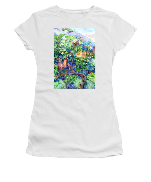 Rooster In A Fig Tree, Tuscany   Women's T-Shirt (Athletic Fit)