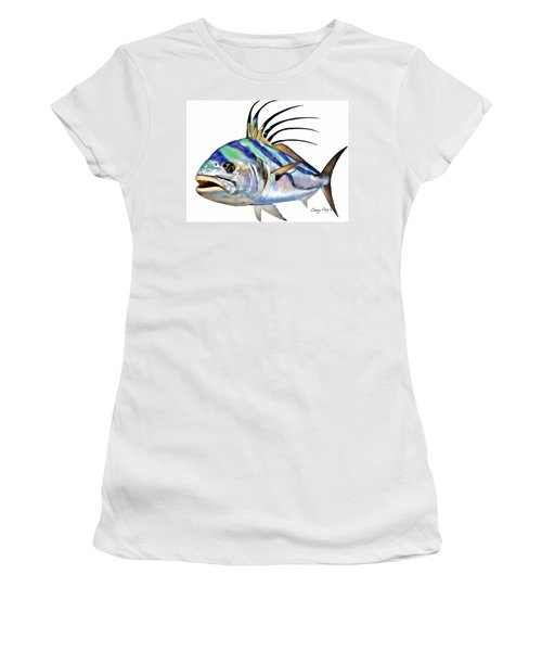 Roosterfish Digital Women's T-Shirt (Junior Cut) by Carey Chen