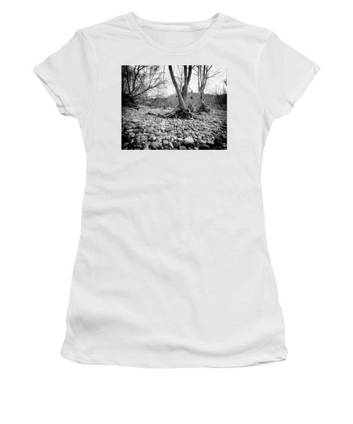 Women's T-Shirt (Athletic Fit) featuring the photograph Roots And Stones by Alan Raasch
