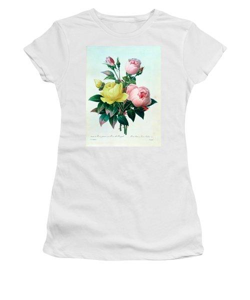 Rosa Lutea And Rosa Indica Women's T-Shirt