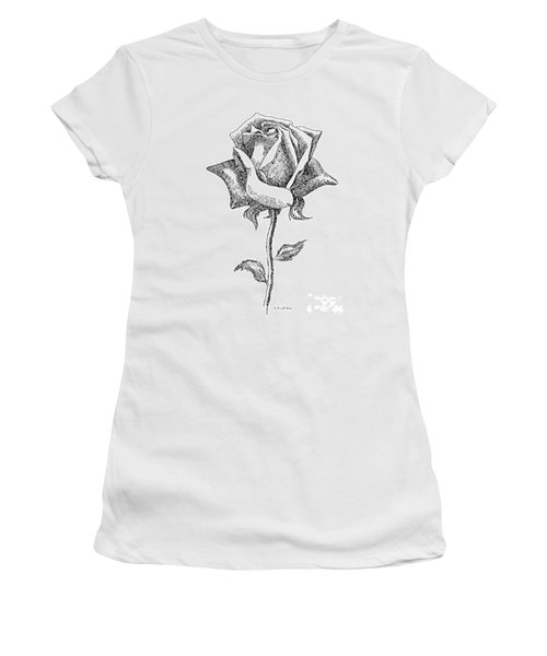 Rose Drawings Black-white 5 Women's T-Shirt