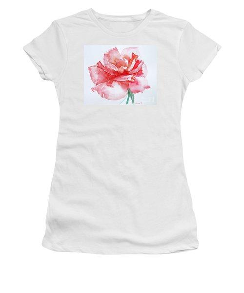 Rose Pink Women's T-Shirt (Junior Cut) by Jasna Dragun