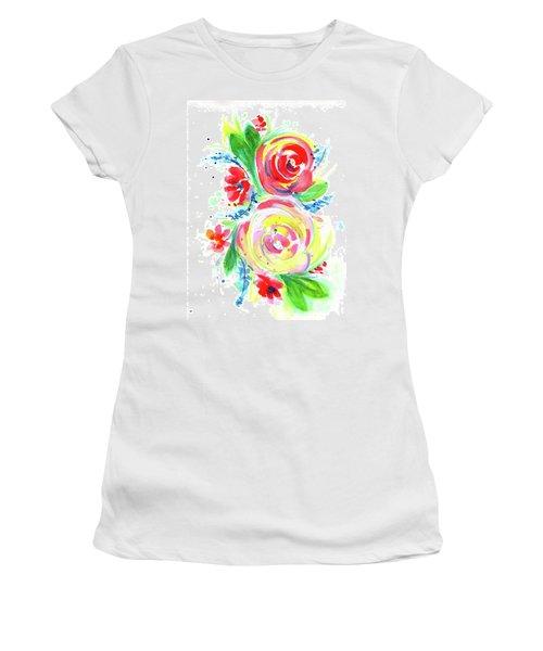 Rose Red Rose Yellow  Women's T-Shirt (Athletic Fit)