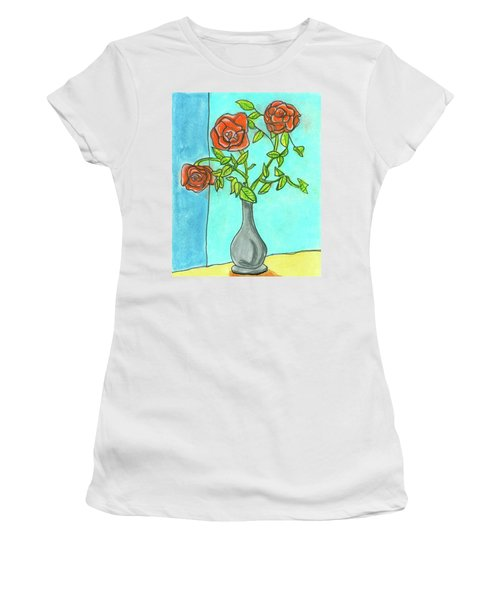 Roses R Red Women's T-Shirt (Athletic Fit)