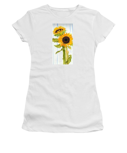 Rosezella's Sunflowers II Women's T-Shirt (Athletic Fit)