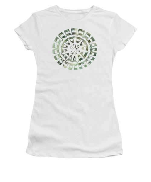 Round About Green Women's T-Shirt (Athletic Fit)