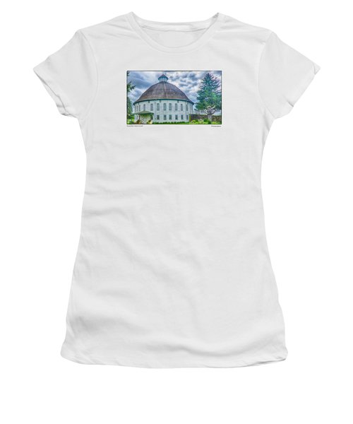 Women's T-Shirt (Junior Cut) featuring the photograph Round Barn, Adams County by R Thomas Berner