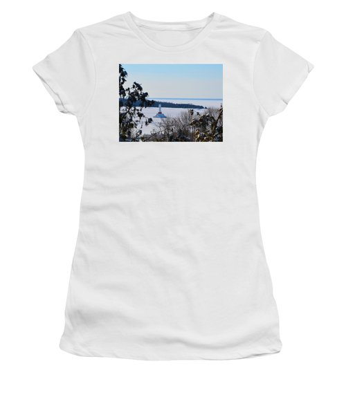 Round Island Passage Light Through The Trees Women's T-Shirt