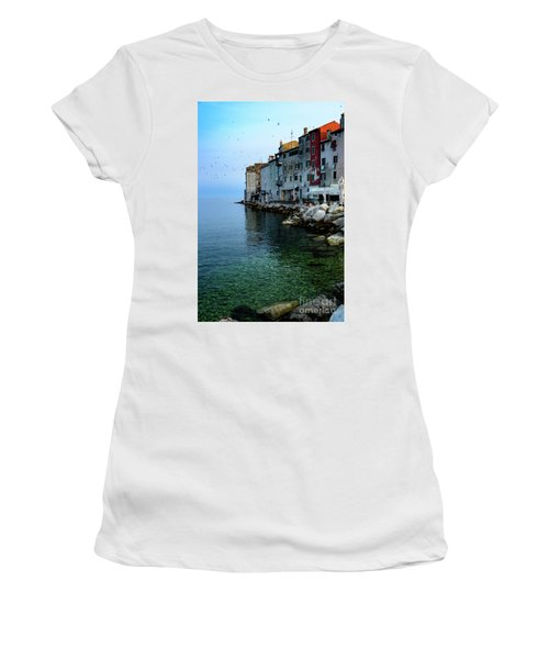 Rovinj Venetian Buildings And Adriatic Sea, Istria, Croatia Women's T-Shirt