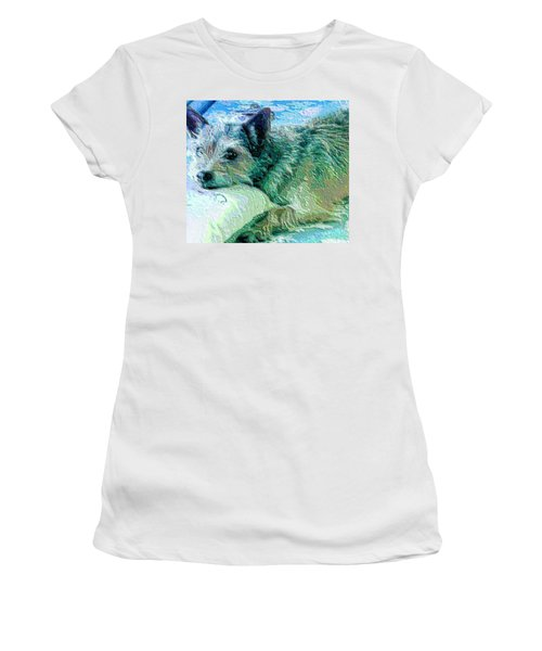 Roxy Women's T-Shirt (Junior Cut) by Vickie G Buccini