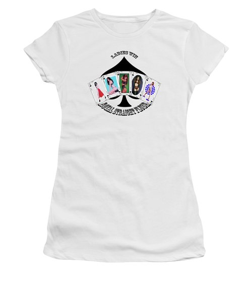 Royal Straight Flush Spades 2 Women's T-Shirt (Athletic Fit)