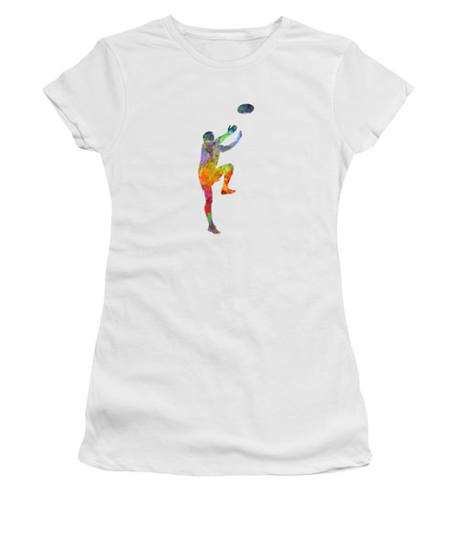 Rugby Man Player 05 In Watercolor Women's T-Shirt