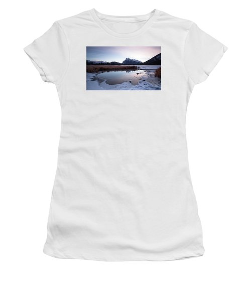 Rundle Mountain Reflections Women's T-Shirt (Athletic Fit)