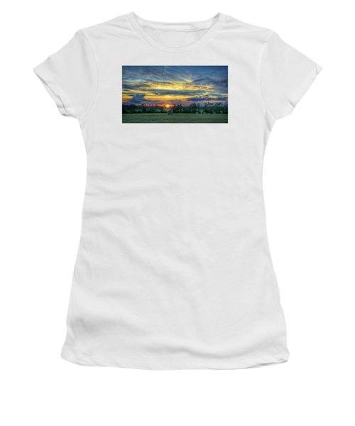 Women's T-Shirt (Athletic Fit) featuring the photograph Rural Sunset by Lewis Mann