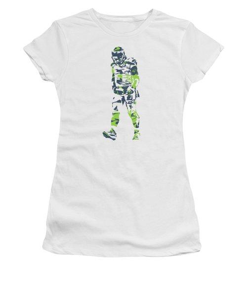 Russell Wilson Seattle Seahawks Pixel Art T Shirt 1 Women's T-Shirt
