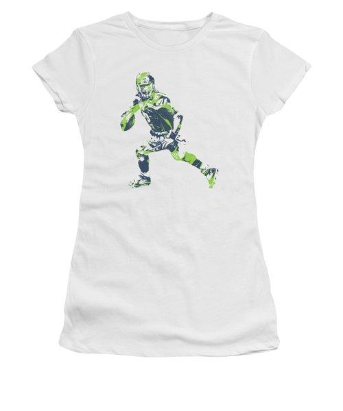 Russell Wilson Seattle Seahawks Pixel Art T Shirt 3 Women's T-Shirt
