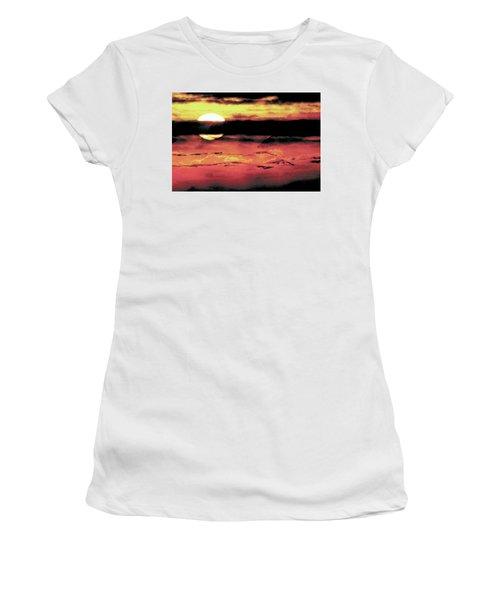 Russet Sunset Women's T-Shirt (Junior Cut) by Paula Ayers