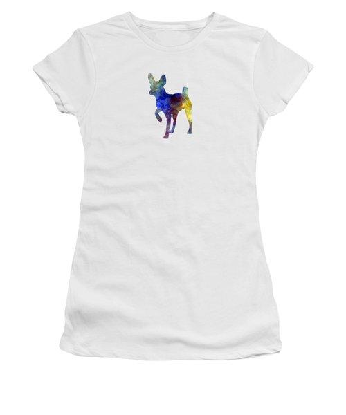 Russian Toy 01 In Watercolor Women's T-Shirt (Junior Cut) by Pablo Romero