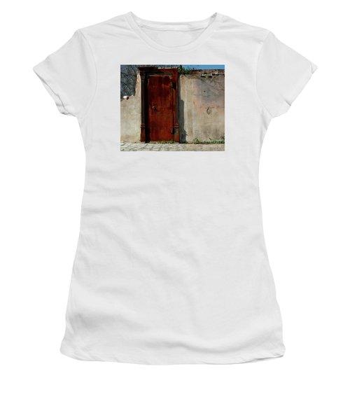 Women's T-Shirt (Junior Cut) featuring the photograph Rustic Ruin by Lori Mellen-Pagliaro