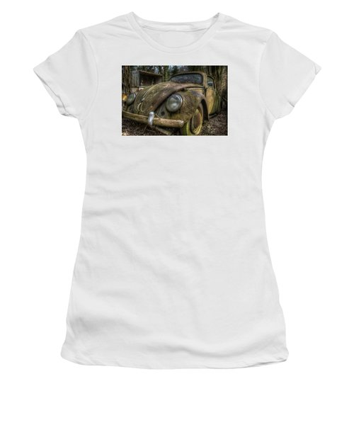 Rusty Vee Dub  Women's T-Shirt (Junior Cut) by Nathan Wright