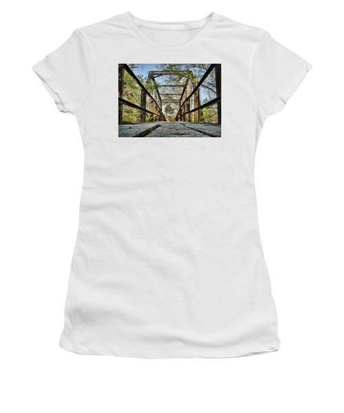 Englewood Bridge Women's T-Shirt (Junior Cut) by Cricket Hackmann